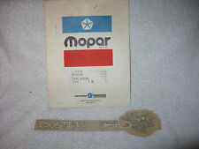 NOS Mopar 1970-72 Plymouth Duster 340 Tail Light Panel Decal