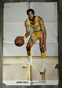 """1969 Vintage Jerry West Los Angeles Lakers Poster 24"""" x 36"""""""