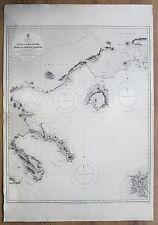 1833-40 GREECE GULF KASSANDRA THASO LEMNOS ISLANDS VINTAGE ADMIRALTY CHART MAP