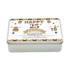 25th Birthday Keepsake Novelty Funny Tin Gift Box Present Idea For Men Him Male