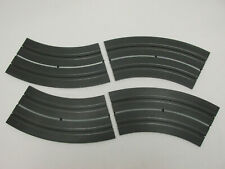 """Aurora Model Motoring Wide Track """"O-Guage"""" 15"""" 1/8 Curves ~ 4 Pc ~ Vn ~ Cleaned"""