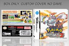 NINTENDO DS : POKEMON WHITE VERSION 2. ENGLISH. COVER + ORIGINAL BOX. (NO GAME).