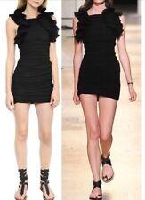 ISABEL MARANT $1235 nwt geeny ruffled cotton gauze mini dress 34/0 XS