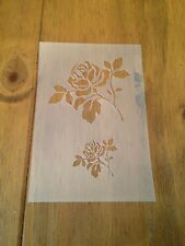 Rose Flower Mylar Reusable Stencil Airbrush Painting Art Craft DIY Home Decor