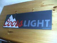 Brand new Coors Light thick rubber bar runner,drip mat, home bar, mancave