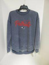 New England Patriots WOMENS Sweatshirt Faded Navy GIII 4her Sample-Small