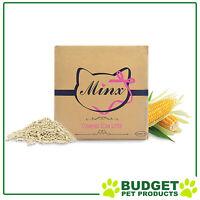 Minx Clumping Corn Natural Biodegradable Absorbent Unscented Cat Litter 1 Month