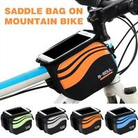 Cycling Bike Bicycle Frame Front Top Tube Bag Phone Case Pouch Holder I4Q4