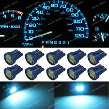 10x Ice Blue LED T10 168 184 Instrument Gauge Dashboar Light Bulbs For Chevy A8