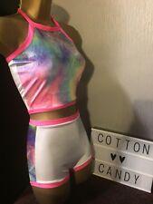 Glittery Velour Uv Neon Tie Dye Rave Festival Pole Dance Wear