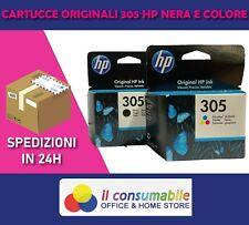 2x ORIGINALE HP 305 cartucce inchiostro Deskjet 2710 2720 2721 2722 2723 2724 27