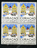 Curacao Stamps Label NH Visit Curacao Old Time Label Block