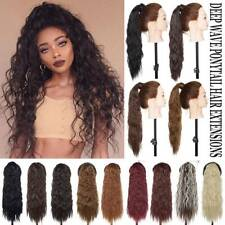NEW Kinky Curly Drawstring Ponytail Wrap Around Pony Tail Clip In Hair Extension