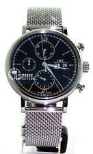 IWC Portofino Chronograph Black on Bracelet 3910-10