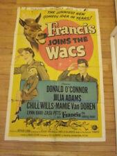 FRANCIS JOINS WACS original 1954 poster Donald O'Connor  Mamie Van Doren