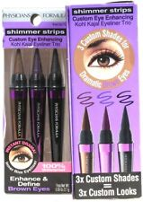 2 Physicians Formula Shimmer Strips 7571 Brown Eyes Kohl Kaial Eyeliner Trio