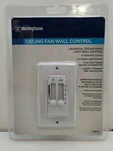 Westinghouse Universal Ceiling Fan & Light Wall Control Switch Panel Toggle NEW