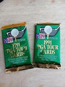 1991 PGA Tour Cards Pro Set Trading Cards Sealed Packs- Tiger Woods ?