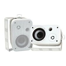 New PylePro PDWR30W Pair 3.5'' Indoor/Outdoor Waterproof On-Wall Speakers (White