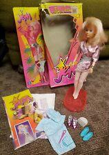 Jem & The Holograms Jerrica Doll 1985 w/Box FLASHING EARRINGS