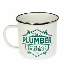 Plumber Camping Enamel Tin Metal Mugs Cups Outdoor Gardening Picnic New