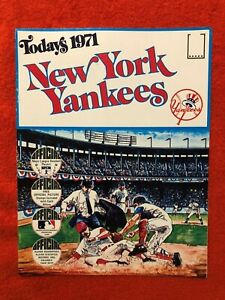 1971 DELL STAMP BOOKLET NEW YORK YANKEES COMPLETE W STAMPS NRMT-MINT  MUNSON