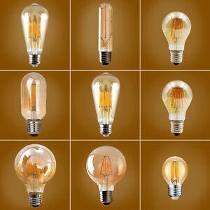 E27 Edison Vintage LED Licht Lampe Filament Nostalgie Glühbirne Retro Bulb 2W-8W
