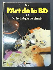 l'art de la bd t 2 la technique, duc ed glenat 1983