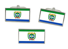 Guaviare (Colombia) Flag Cufflink and Tie Pin Set