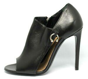 Designer Ballin sexy black Italian leather stiletto heels Size 38.5