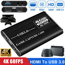 4K 1080p HDMI to USB 3.0 Video Capture Card Game Live Stream for Nintendo Switch