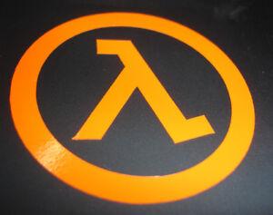 Half Life Logo Vinyl Sticker (SMALL) Valve Steam HL HL2 Halflife Gordan Freeman