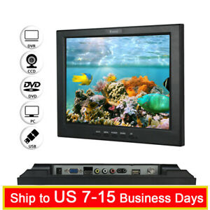 LCD Screen 12 inch TFT Monitor VGA HDMI BNC AV w/ Speaker For CCTV Security DVR