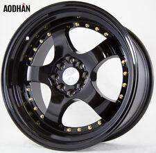 17x9 AodHan AH03 4x100/114.3 ET25 Full Black Wheels (Set of 4)