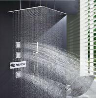 Thermostatic Shower System 24 Inch Big Size Large Rain Massage Shower Set Faucet