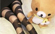 Sexy Women Black Leggings Ripped Slashed Mesh Stretch Bandage Skinny Pants SG