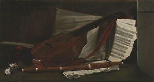 "Francois Bonvin : ""Attributes of Music"" (1863) — Giclee Fine Art Print"