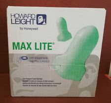 100 Pairs Of Howard Leight Max Lite Lpf 30 Corded Green Safety Foam Ear Plugs