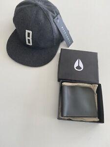 BRAND NEW NIXON SHORES BI FOLD LEATHER WALLET & BILLABONG NEWTON CAP RRP $89