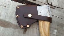 Hand made Leather Sheath for Elwell Axe Bushcraft Green Woodworking
