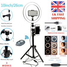 10 Inch LED Ring Light With1.6m Stand and Phone Holder Make-up for Camera Phone