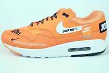 Nike Air Max 1 SE JDI Just Do It Total Orange White Black AO1021 800 Size 13 New