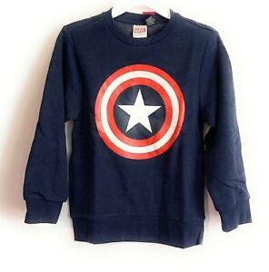 Marvel Captain America Sweatshirt Navy Size Small NEW