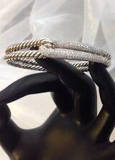 David Yurman Pave Diamond Labyrinth Bracelet BRAND NEW & GORGEOUS!! $2750