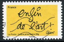 TIMBRE FRANCE AUTOADHESIF OBLITERE N° 615 / SOURIRES PAR L'HUMORISTE  BEN