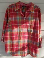 Chaps Women's Size 2X Shirt Collared Top Button Down 3/4 No Iron Casual Blouse