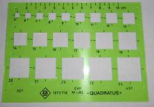 DDR Plaste Schablone Zeichnen Quadratus Mathematik  Zeichen Technik + unbenutzt