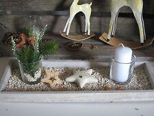 Kerzenteller HOLZ TABLETT mit Kerze Tisch Deko Dekoschale Weihnachten Tischdeko