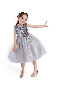ELSA & ANNA® Girl Princess Wedding Bridesmaid Party Dress Costume Outfit PDGRY02