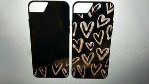 ONN IPHONE FOR 6/6S/7/8  Black & Rose Gold Liquid Glitter Hidden Hearts